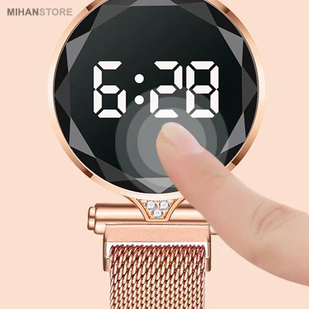 ساعت صفحه لمسی نگین دار Luxury Lady